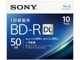 録画用 BD-R DL Ver.1.2 1-4倍速 50GB 10枚【インクジェットプリンタ対応】 10BNR2VJPS4  10個セット