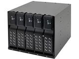 SATA3.5HDD リムーバブルラック iStarUSA BPN-DE Series 5Bayモデル(ブラック) BPN-DE350SS-BK