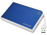 """MOBILE BOX USB3.0接続 SATA6G 2.5""""HDD/SSDケース ブルー&ホワイト (CMB25U3BL6G)"""