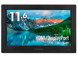 PCモニター plus one Full HD 黒 LCD-11600FHD3 [11.6型 /ワイド /フルHD(1920×1080)]