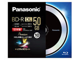 LM-BR50L10BP 録画用BD-R DL(1-4倍速対応/片面2層/50GB/10枚) 【日本製】