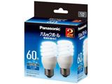 電球形蛍光灯 「パルックボール」(電球60WタイプD形2個パック・クール色・口金E26) EFD15ED11E2T
