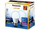 調光器非対応LED電球 (一般電球形・全光束810lm/昼光色相当・口金E26/2個入) LDA7D-G/K60E/S/W/2T