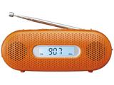【ワイドFM対応】FM/AM 手回し充電ラジオ(オレンジ) RF-TJ20-D