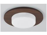 LED電球 デコルミナ(ボール電球形 全光束750lm/電球色・口金E26) ダークウッド LDF8L/BU/006Tダウンライト用縦取付けタイプ《装飾パネル付き セット》