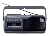 RX-M45 ラジカセ グレー [ワイドFM対応]