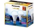 LDA7D-G-E17/K60E/S/W/2/2T LED電球 小形電球形 ホワイト [E17 /昼光色 /2個 /60W相当 /一般電球形]