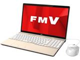 ノートPC LIFEBOOK AH45/D1 FMVA45D1G シャンパンゴールド [Core i3・15.6インチ・Office付き・HDD 1TB・メモリ 4GB]
