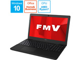 ノートPC LIFEBOOK AH76/D1 FMVA76D1BB シャイニーブラック [Ryzen 7・15.6インチ・Office付き・SSD 256GB・メモリ 8GB]