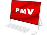 デスクトップPC FMV ESPRIMO FH70/D3 FMVF70D3W ホワイト [Core i7・23.8インチ・Office付き・SSD 512GB・メモリ 4GB]