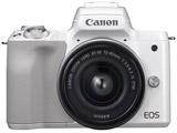 EOS Kiss M ミラーレス一眼カメラ EF-M15-45 IS STM レンズキット ホワイト [ズームレンズ]