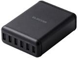 スマートフォン・タブレット用AC充電器 USB-A6ポート(おまかせ充電) 電源ケーブル1.5m ブラック MPA-ACD03BK