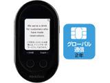 〔通訳デバイス:Wi-Fi or SIMカード〕 POCKETALK W グローバル通信(2年)付き W1PGK ブラック