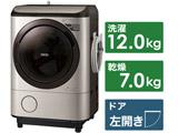 ドラム式洗濯乾燥機  ステンレスシャンパン BD-NX120GL-N [洗濯12.0kg /乾燥7.0kg /ヒーター乾燥(水冷・除湿タイプ) /左開き] 【買い替え20000pt】