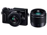 LUMIX GF10 ダブルレンズキット DC-GF10W-K ブラック [マイクロフォーサーズ] ミラーレス一眼カメラ