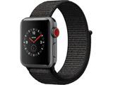 【在庫限り】 Apple Watch Series 3(GPS + Cellularモデル)- 38mmスペースグレイアルミニウムケースとブラックスポーツループ MRQG2JA