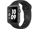 Apple Watch Nike+ Series 3(GPSモデル)- 42mmスペースグレイアルミニウムケースとアンスラサイト/ブラックNikeスポーツバンド MTF42J/A