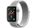 Apple Watch Series 4(GPSモデル)- 40mmシルバーアルミニウムケースとシーシェルスポーツループ MU652J/A