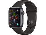 Apple Watch Series 4(GPSモデル)- 40mmスペースグレイアルミニウムケースとブラックスポーツバンド MU662J/A