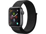 【在庫限り】 Apple Watch Series 4(GPSモデル)- 40mm スペースグレイアルミニウムケースとブラックスポーツループ MU672J/A