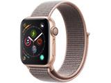 Apple Watch Series 4(GPSモデル)- 40mmゴールドアルミニウムケースとピンクサンドスポーツループ MU692J/A
