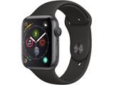 Apple Watch Series 4(GPSモデル)- 44mmスペースグレイアルミニウムケースとブラックスポーツバンド MU6D2J/A