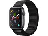 Apple Watch Series 4(GPSモデル)- 44mmスペースグレイアルミニウムケースとブラックスポーツループ MU6E2J/A