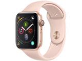 Apple Watch Series 4(GPSモデル)- 44mmゴールドアルミニウムケースとピンクサンドスポーツバンド MU6F2J/A