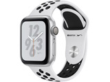 Apple Watch Nike+ Series 4(GPSモデル)- 40mmシルバーアルミニウムケースとピュアプラチナム/ブラックNikeスポーツバンド MU6H2J/A
