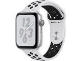 Apple Watch Nike+ Series 4(GPSモデル)- 44mmシルバーアルミニウムケースとピュアプラチナム/ブラックNikeスポーツバンド MU6K2J/A