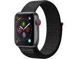 Apple Watch Series 4(GPS + Cellularモデル)- 40mmスペースグレイアルミニウムケースとブラックスポーツループ MTVF2J/A