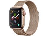 Apple Watch Series 4(GPS + Cellularモデル)- 40mmゴールドステンレススチールケースとゴールドミラネーゼループ MTVQ2J/A