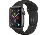 Apple Watch Series 4(GPS + Cellularモデル)- 44mmスペースグレイアルミニウムケースとブラックスポーツバンド MTVU2J/A