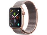 Apple Watch Series 4(GPS + Cellularモデル)- 44mmゴールドアルミニウムケースとピンクサンドスポーツループ MTVX2J/A