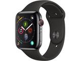 Apple Watch Series 4(GPS + Cellularモデル)- 44mmスペースブラックステンレススチールケースとブラックスポーツバンド MTX22J/A