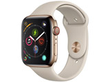 Apple Watch Series 4(GPS + Cellularモデル)- 44mmゴールドステンレススチールケースとストーンスポーツバンド MTX42J/A