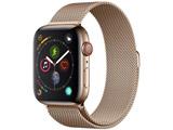 Apple Watch Series 4(GPS + Cellularモデル)- 44mmゴールドステンレススチールケースとゴールドミラネーゼループ MTX52J/A