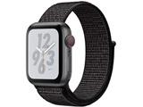 Apple Watch Nike+ Series 4(GPS + Cellularモデル)- 40mmスペースグレイアルミニウムケースとブラックNikeスポーツループ MTXH2J/A