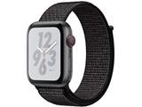 Apple Watch Nike+ Series 4(GPS + Cellularモデル)- 44mmスペースグレイアルミニウムケースとブラックNikeスポーツループ MTXL2J/A