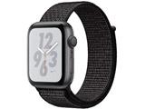 Apple Watch Nike+ Series 4(GPSモデル)- 44mmスペースグレイアルミニウムケースとブラックNikeスポーツループ MU7J2J/A