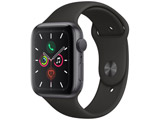 Apple Watch Series 5(GPSモデル)- 44mm スペースグレイアルミニウムケースとスポーツバンド ブラック - S/M & M/L MWVF2J/A