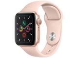 Apple Watch Series 5(GPSモデル)- 40mm ゴールドアルミニウムケースとスポーツバンド ピンクサンド - S/M & M/L MWV72J/A