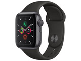 Apple Watch Series 5(GPSモデル)- 40mm スペースグレイアルミニウムケースとスポーツバンド ブラック - S/M & M/L MWV82J/A