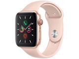 Apple Watch Series 5(GPS + Cellularモデル)- 44mm ゴールドアルミニウムケースとスポーツバンド ピンクサンド - S/M & M/L MWWD2J/A