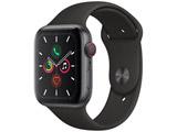 Apple Watch Series 5(GPS + Cellularモデル)- 44mm スペースグレイアルミニウムケースとスポーツバンド ブラック - S/M & M/L MWWE2J/A
