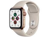 Apple Watch Series 5(GPS + Cellularモデル)- 40mm ゴールドステンレススチールケースとスポーツバンド ストーン - S/M & M/L MWX62J/A
