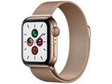 Apple Watch Series 5(GPS + Cellularモデル)- 40mm ゴールドステンレススチールケースとミラネーゼループ ゴールド MWX72J/A