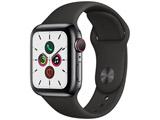 Apple Watch Series 5(GPS + Cellularモデル)- 40mm スペースブラックステンレススチールケースとスポーツバンド ブラック - S/M & M/L MWX82J/A
