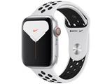 【10/04発売予定】 Apple Watch Nike Series 5(GPS + Cellularモデル)- 44mmシルバーアルミニウムケースとピュアプラチナム/ブラックNikeスポーツバンド - S/M & M/L ※発売日以降、順次お届けになります。