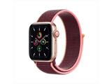 Apple Watch SE(GPS + Cellularモデル)- 40mmゴールドアルミニウムケースとプラムスポーツループ   MYEJ2J/A [SE /40mm /アルミニウム /ゴールド /GPS+Cellular]